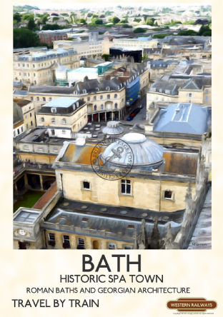 Bath, view from the Tower,